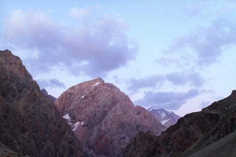 Sunset in the mountains. Time Lapse. Tajikistan. 4 Footage