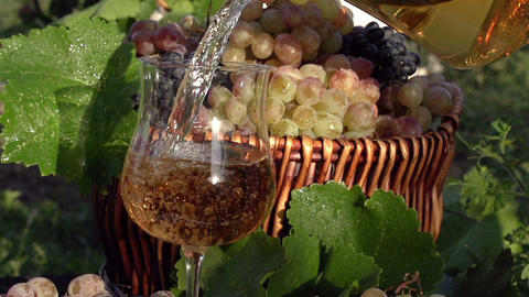 Pouring Grape Juice stock footage