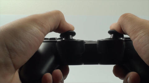Hands Holding Controller Extreme Close Up Isolated stock footage
