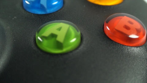 Buttons From A Gaming Controller, Extreme Close Up stock footage