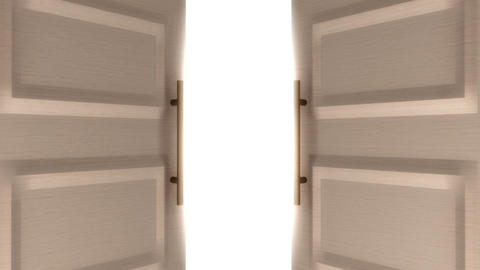 Door Open 3D stock footage