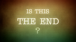 Film vintage Is This The End animation horror Footage
