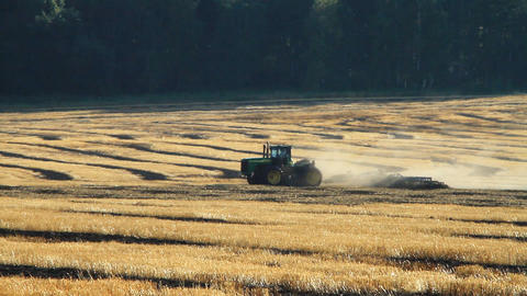 Tractor At Work stock footage
