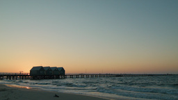 Busselton Jetty At Sunset stock footage