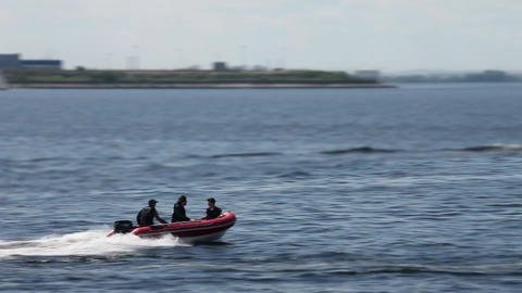 Rigid Inflatable Boat high speed Footage
