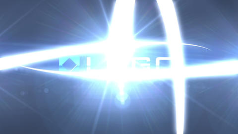 Glow 3D Light Streaks Business Logo Reveal Intro After Effectsテンプレート