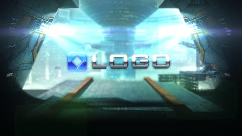 Sci Fi Futuristic Door Logo Intro Animation After Effects Template