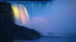 Niagara Falls In The Evening, Canada / USA stock footage