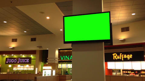 Green Billboard For Your Ad At Tv stock footage