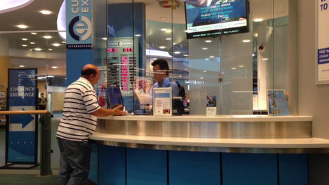 Foreign currency exchange place Footage