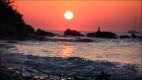 Sunset, slow motion 60fps Footage