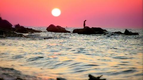 pink sunset, slow motion 60fps Live Action
