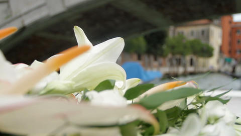 Bouquet Of The Ship, Venice, Italy stock footage