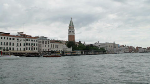 Church on the Water, Venice, a natural phenomenon Footage