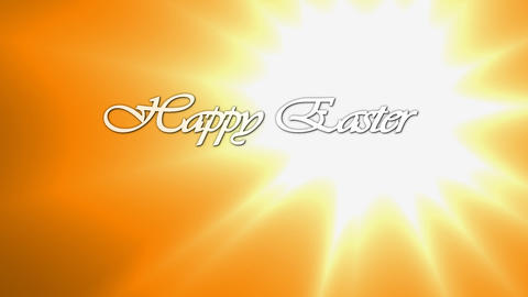 Animated inscription Happy Easter Live Action
