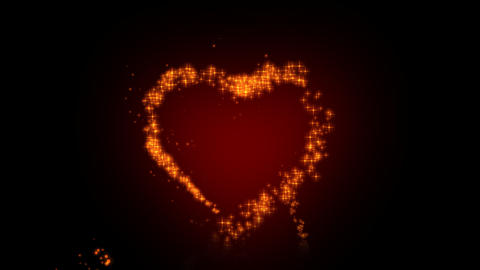 Red Heart With Arrow Animation For Valentine's Day stock footage