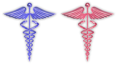 Animated Medical Symbols Caduceus stock footage