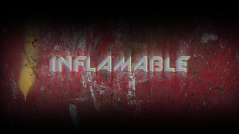 Animated sing Inflamable with inflamable effect Live Action