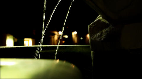 Water In Fountain In Ljubljana stock footage
