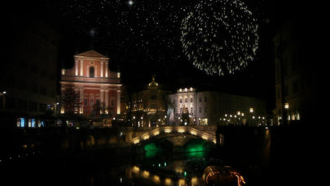 Decoration of Ljubljana during New Year's holidays Footage