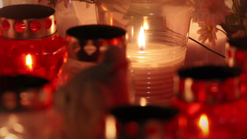 Focused close up of candles Footage
