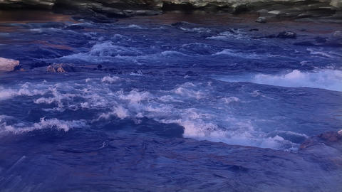 river with color correction Footage