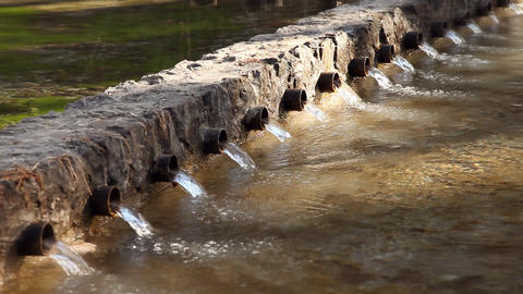 River running through tubes Footage