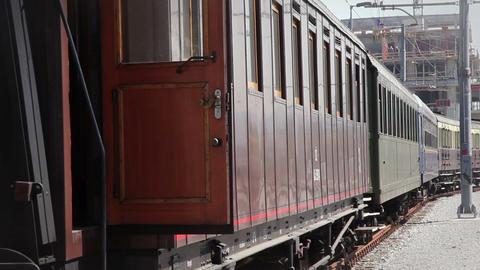 trainwagon waiting on railway Live Action