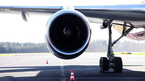 Airplane propeller Footage