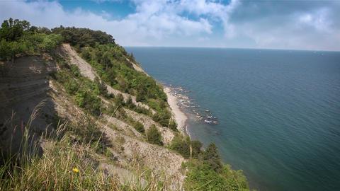 nice cliff near Piran Footage