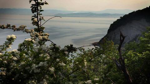 Still cliff near Isola Footage