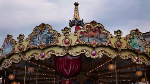 Old Carousel stock footage