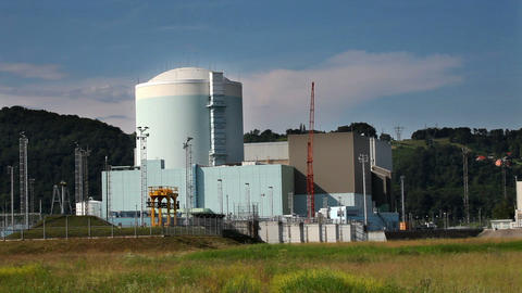 Nucelar Power Station stock footage