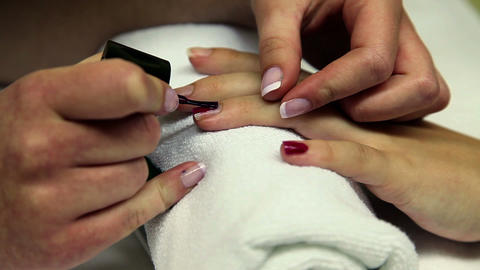 Women work young girl manicure Live Action