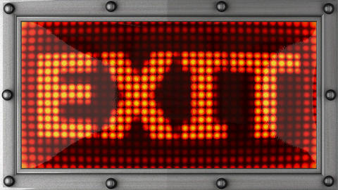 exit announcement on the LED display Stock Video Footage