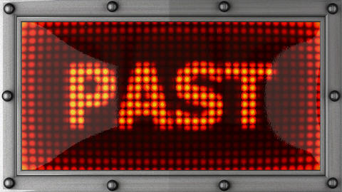 past announcement on the LED display Stock Video Footage
