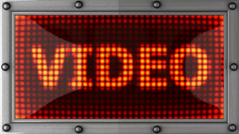 video announcement on the LED display Stock Video Footage