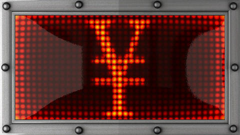 Yen announcement on the LED display Animation