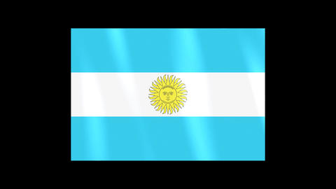 National Flags 4 ARG Argentina Stock Video Footage