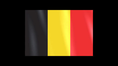National Flags 4 BEL Belgium Stock Video Footage