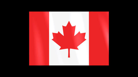 National Flags 4 CAN Canada Stock Video Footage