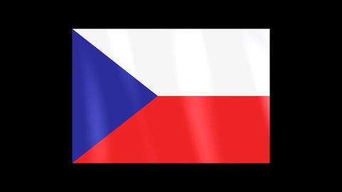 National Flags 4 CZE Czech Stock Video Footage