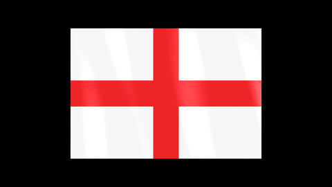National Flags 4 ENG England Stock Video Footage