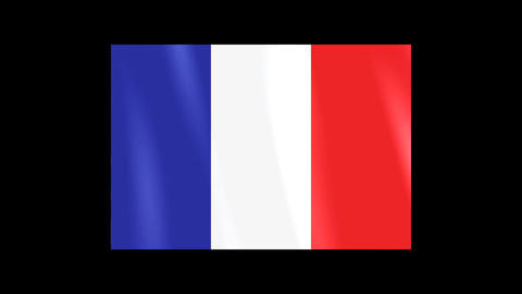 National Flags 4 FRA France Stock Video Footage