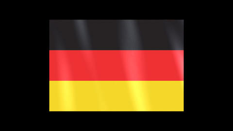 National Flags 4 GER Germany Stock Video Footage