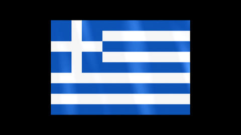 National Flags 4 GRE Greece Stock Video Footage