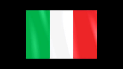 National Flags 4 ITA Italy Stock Video Footage