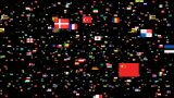 National Flags 4 ITA Italy stock footage