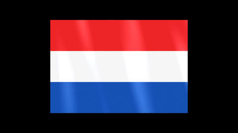 National Flags 4 NED Netherlands Stock Video Footage
