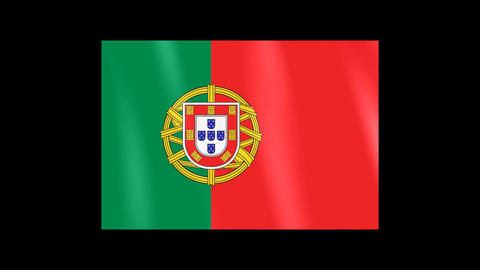 National Flags 4 POR Portugal Stock Video Footage